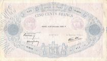 France 500 Francs Pink and Blue - 28-12-1939 Serial N.3918 - F
