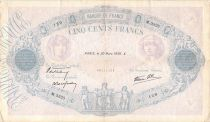 France 500 Francs Pink and Blue - 30-03-1939 Serial M.3325 - F+