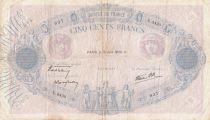 France 500 Francs Pink and blue -15-06-1939 Serial U.3430