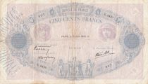 France 500 Francs Pink and blue -15-06-1939 Serial U.3430