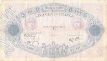 France 500 Francs Rose et Bleu - 05-10-1939 Série Q.3637 - TB