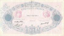 France 500 Francs Rose et Bleu - 06-08-1936 Série F.2377 - TTB