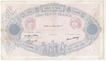 France 500 Francs Rose et Bleu - 11-03-1937 Série U.2526 - TB