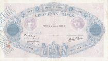 France 500 Francs Rose et Bleu - 12-01-1939 Série A.3159