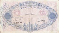 France 500 Francs Rose et Bleu - 15-03-1927 - Série E.1007