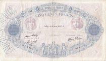 France 500 Francs Rose et Bleu - 1937 B.2672