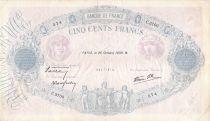 France 500 Francs Rose et Bleu - 26-10-1939 Série C.3700 - TB+
