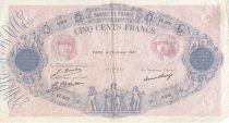 France 500 Francs Rose et Bleu - 27-01-1927 - Série W.967