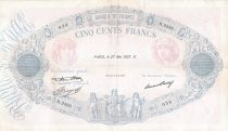 France 500 Francs Rose et Bleu - 27-05-1937 Série N.2593 - TB