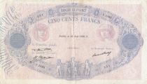 France 500 Francs Rose et Bleu - 28-08-1930 - Serial Y.1353