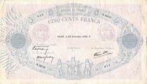 France 500 Francs Rose et Bleu - 28-12-1939 Série N.3918 - TB