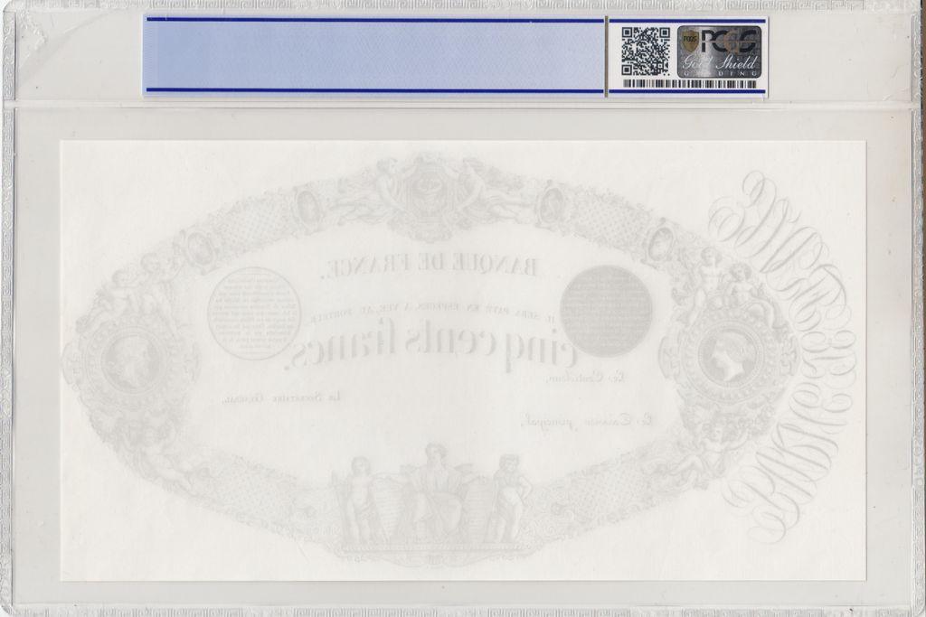 France 500 Francs Uniface Proof  - 1863 (1868) - PCGS 65 OPQ