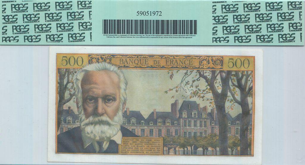 France 500 Francs Victor Hugo - 02/09/1954 - PCGS AU58