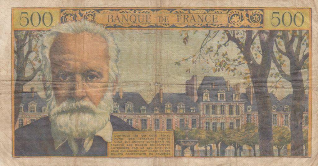 France 500 Francs Victor Hugo - 02-09-1954 Serial P.38