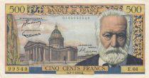 France 500 Francs Victor Hugo - 06-01-1955 Serial E.66