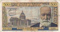 France 500 Francs Victor Hugo - 06-01-1955 Série S.55 - TB