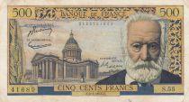 France 500 Francs Victor Hugo - 06-01-1955 Série S.55 - TTB