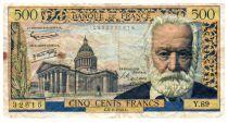 France 500 Francs Victor Hugo - 06-02-1958 - Serial Y.89 - F+