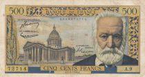 France 500 Francs Victor Hugo - 07-01-1954 Serial A.9 - F - P.133