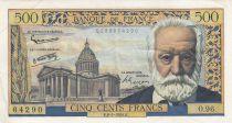 France 500 Francs Victor Hugo - 1958/02/06 - Serial O.96