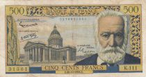 France 500 Francs Victor Hugo - 30-10-1958 Série K.111 - TB