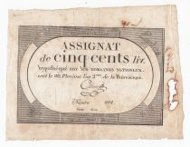 France 500 Livres 20 Pluviose An II (8.2.1794) - Sign. Adam