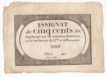 France 500 Livres 20 Pluviose An II (8.2.1794) - Sign. Davion