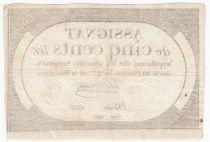 France 500 Livres 20 Pluviose An II (8.2.1794) - Sign. Delaistre