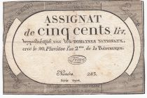 France 500 Livres 20 Pluviose An II (8.2.1794) - Sign. Fenix