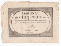 France 500 Livres 20 Pluviose An II (8.2.1794) - Sign. Lehu