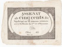 France 500 Livres 20 Pluviose An II (8.2.1794) - Sign. Preux