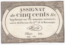 France 500 Livres 20 Pluviose An II (8.2.1794) - Sign. Say