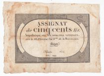 France 500 Livres 20 Pluviose An II (8.2.1794) - Sign. Troupé