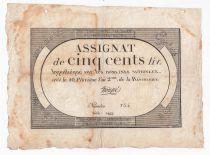 France 500 Livres 20 Pluviose An II (8.2.1794) - Sign. Troupé