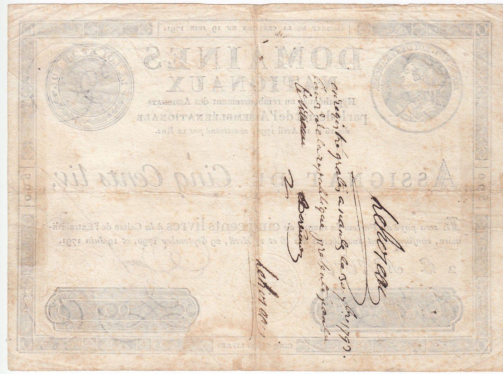 France 500 Livres Louis XVI - 19-06-1791 - Sign. Desrez - TTB