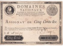 France 500 Livres Louis XVI - 29 Sept. 1790 - Faux d\'époque - TTB