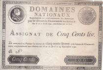 France 500 Livres Louis XVI - 29 Sept. 1790 - Serial B