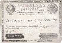 France 500 Livres Louis XVI - 29 Sept. 1790 - Série B Sign. Desrez