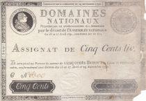 France 500 Livres Louis XVI - 29 Sept. 1790 - Série C Nº 6300
