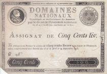 France 500 Livres Louis XVI - 29 Sept. 1790 - Série C Sign. Desrez