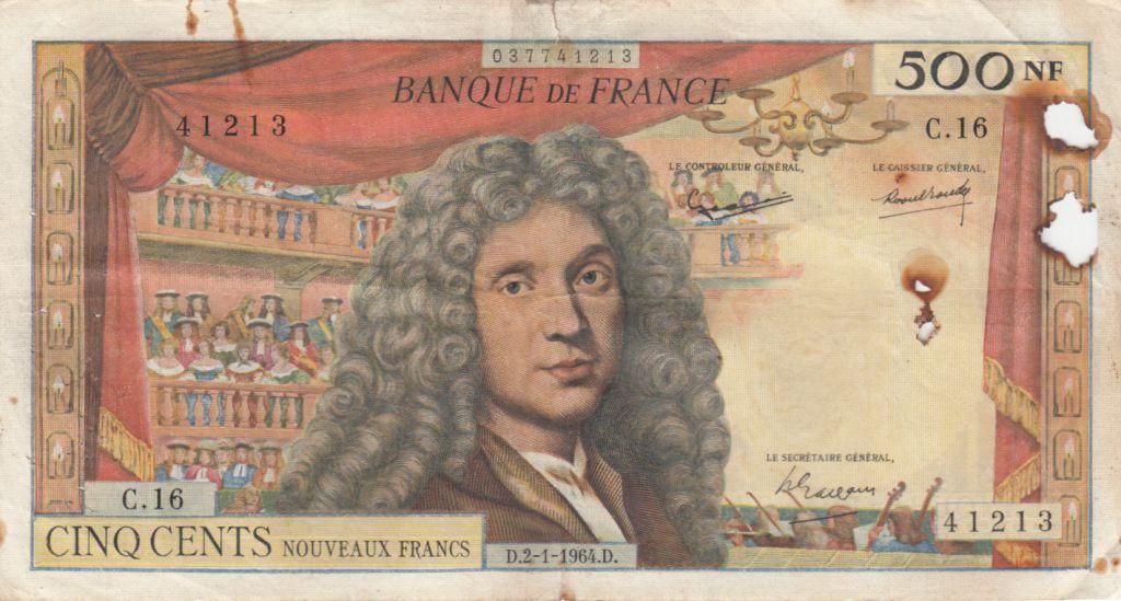 France 500 NF Molière - 02-01-1964 Série C.16