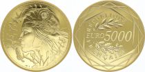 France 5000 Euro Or - Marian Liberty 2017 -  UNC - GOLD