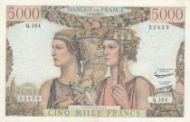 France 5000 Francs - 06-06-1957 Serial Q.164 -VF - P. 131