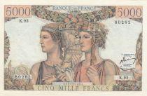 France 5000 Francs - 07-02-1952 Serial K.93 - XF+ - P. 131