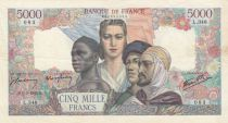 France 5000 Francs Empire Français - 01-03-1945 Série L.348 - TTB