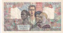 France 5000 Francs Empire Français - 03-05-1945 Série G.555 - TTB+