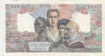 France 5000 Francs Empire Français - 05-04-1945 Série U.459 -TTB