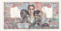 France 5000 Francs Empire Français - 07-06-1945 Série D.683 - TTB+