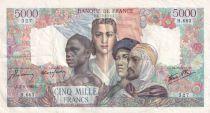 France 5000 Francs Empire Français - 07-06-1945 Série H.683 - TTB