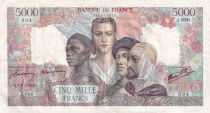 France 5000 Francs Empire Français - 07-06-1945 Série J.680 - TTB